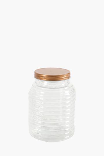 Honeycombe Glass Storage Jar, Small