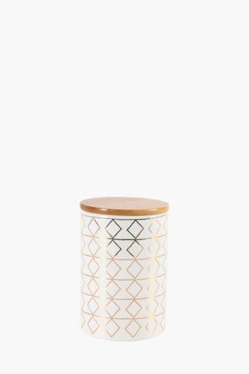 Geometric Ceramic Canister