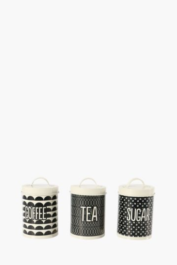 Set Of 3 Aura Urban Canisters