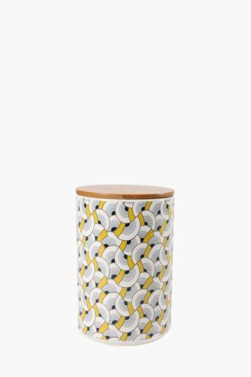 Ceramic Geometric Canister