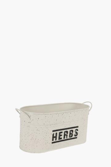 Speckle Metal Herb Container