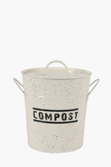 Speckle Metal Compost Container