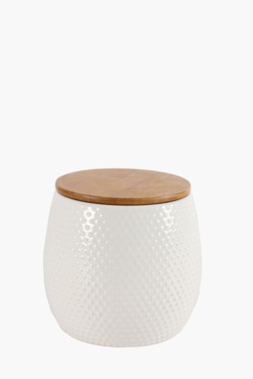 Wooden Lid Canister, Large