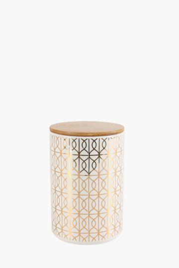 Ceramic Geo Cookie Jar