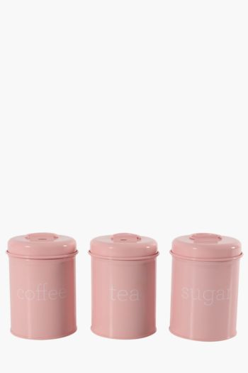 Set Of 3 Royale Metal Canisters