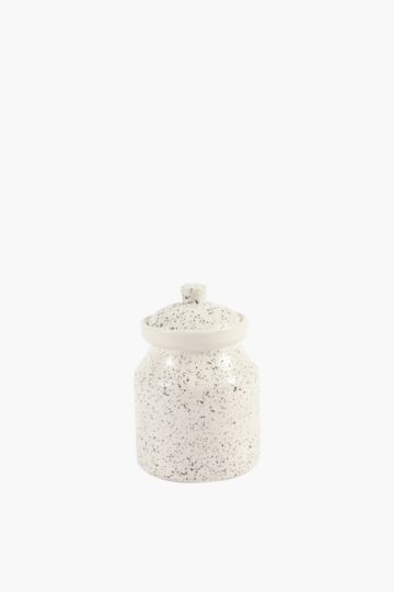 Speckle Ceramic Canister, Small