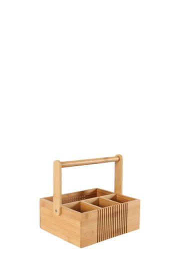 4 Division Bamboo Caddy