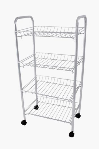 4 Tier Stainless Steel Vegetable Rack With Wheels