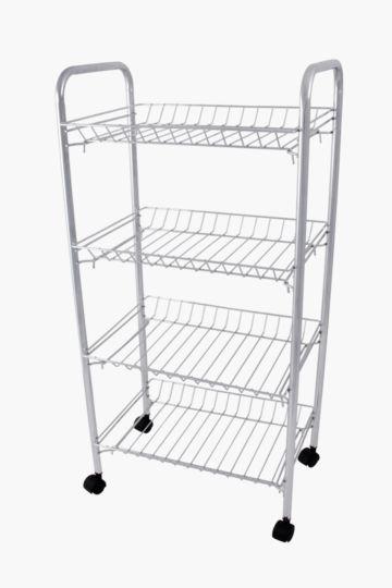 4 Tier Stainless Steel Vegetable Rack With Wheels