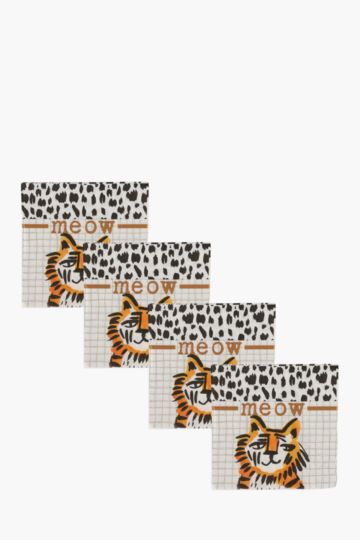 20 Pack Tiger Cocktail Serviettes