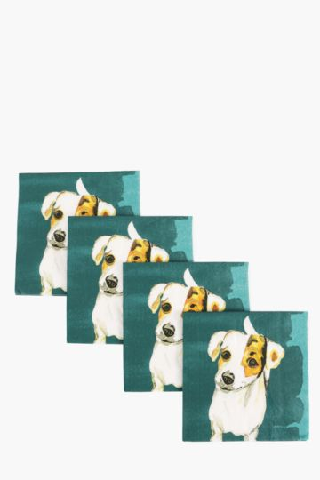 Pack Of 20 Fido Cocktail Serviettes