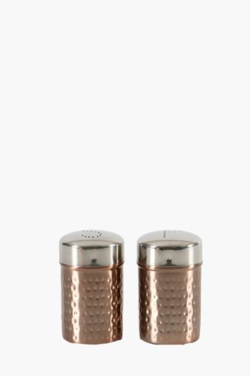 Metallic Salt And Pepper Canisters