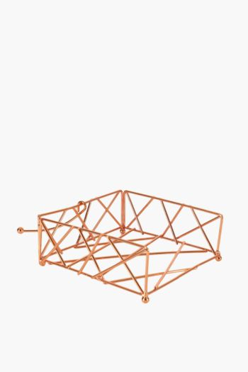 Copper Diamond Serviette Holder