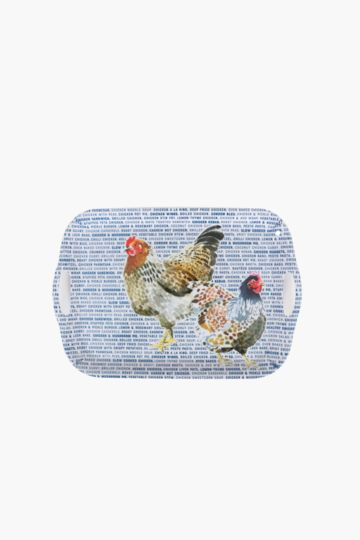 Melamine Rooster Tray, Large