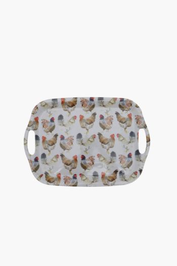 Melamine Rooster Tray, Medium