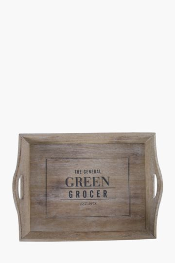 Green Grocer Wooden Tray