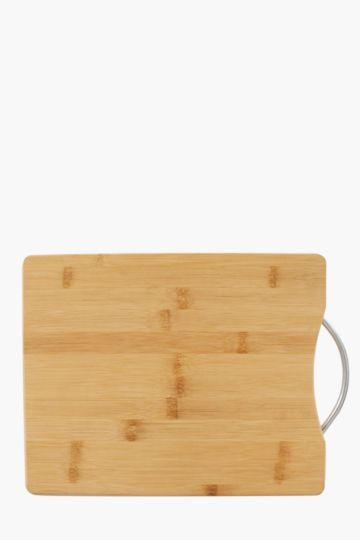 Bamboo Chopping Board With Metal Handle