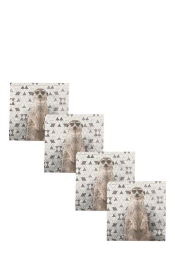 12 Pack Meerkat Cocktail Serviettes