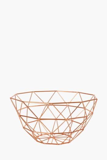 Copper Diamond Fruit Basket