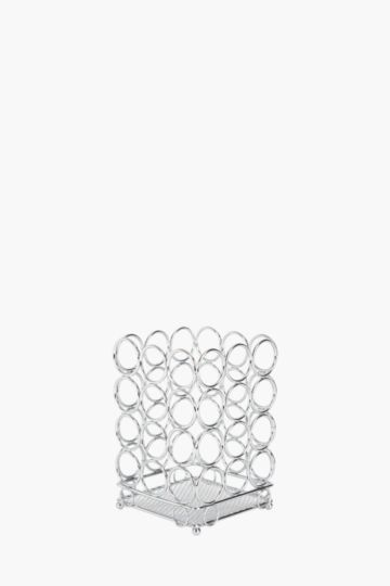Chrome Circle Utensil Holder