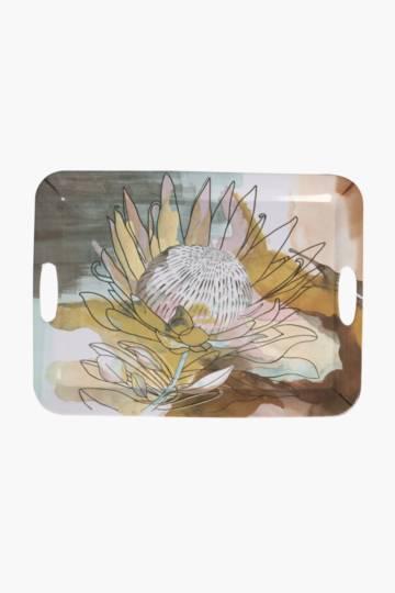 Protea Melamine Tray, Extra Large