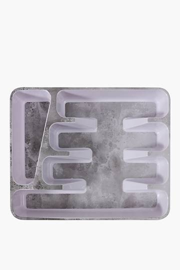 Simone Marble 5 Division Cutlery Tray