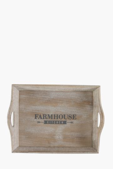 Farmhouse Wooden Serving Tray