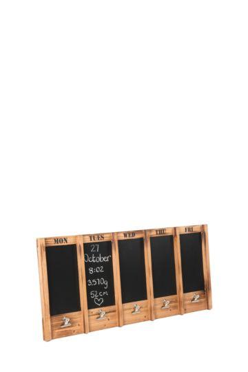 Wooden Memo Board Days Of Week