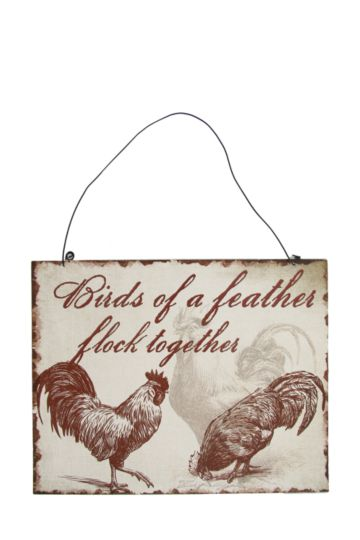 Rustic Rooster Kitchen Sign
