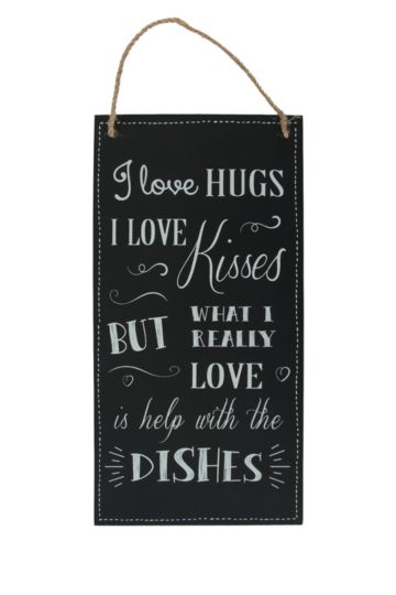 Kisses And Dishes Kitchen Sign