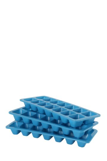 3 Pack Plastic Ice Trays