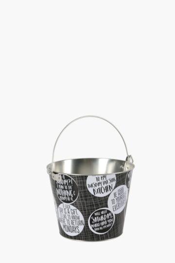 Weekday Tin Ice Bucket