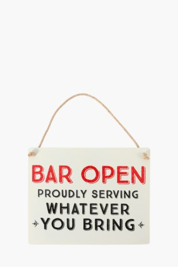 Tin Bar Sign