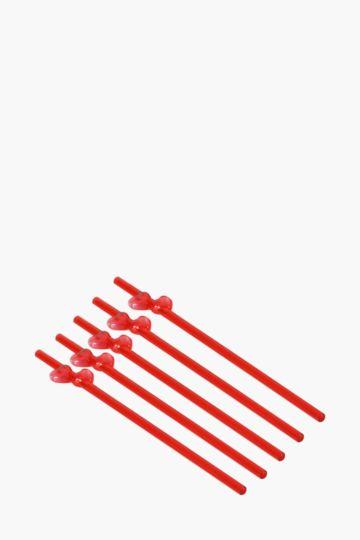 12 Pack Heart Straws