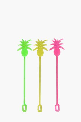 12 Pack Pineapple Swizzle Sticks