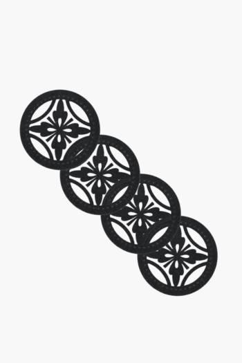Pack Of 4 Felt Kenzo Coasters