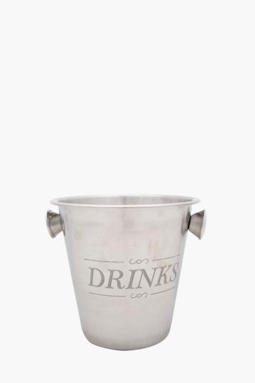 Script Embossed Ice Bucket