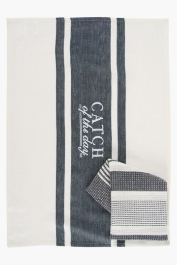 2 Pack Catch Of The Day Tea Towels