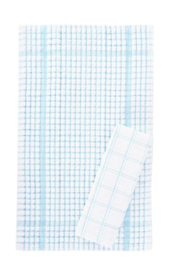 Pack Of Two Cotton Terry Tea Towels