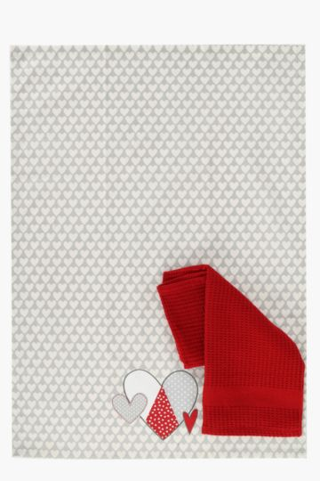 2 Pack Hearty Tea Towels