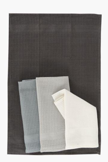 4 Pack Waffle Tea Towels