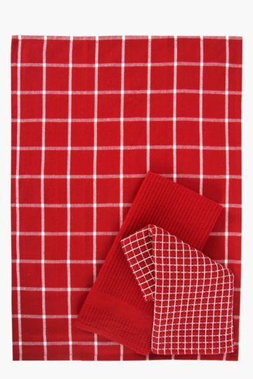 3 Pack 100% Cotton Tea Towels