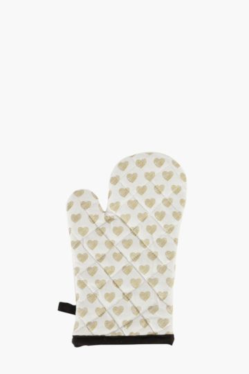 Heart Sketch Single Oven Glove