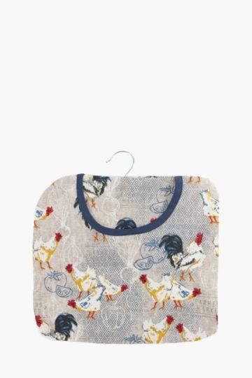 100% Cotton Rooster Peg Bag
