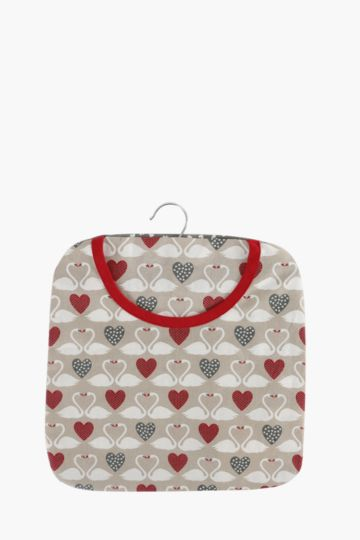 100% Cotton Swan Love Peg Bag