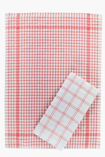 2 Pack 100% Cotton Terry Tea Towels