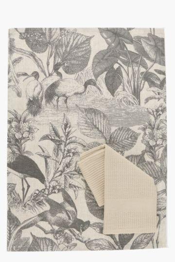 2 Pack 100% Cotton Tahiti Tea Towels