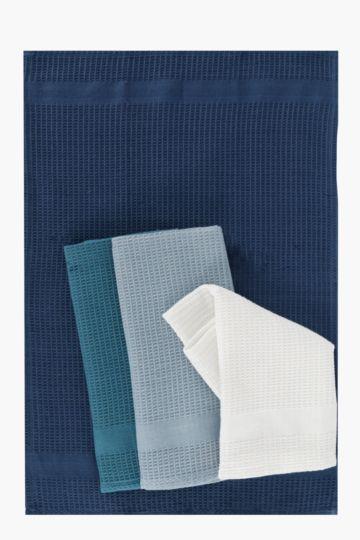 4 Pack 100% Cotton Waffle Tea Towels