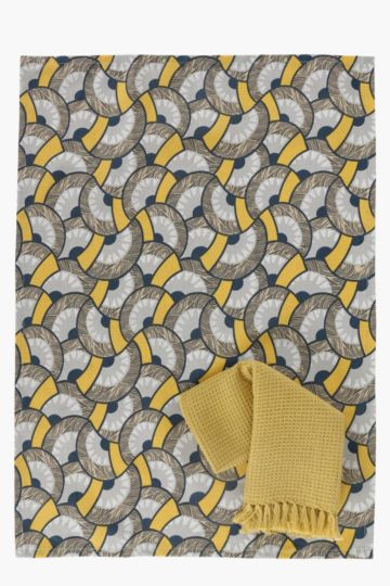 2 Pack 100% Cotton Geometric Tea Towels