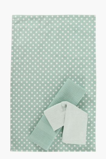 3 Pack Polka Dot Tea Towels
